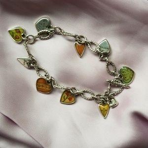 Brighton piccadilly heart charm bracelet